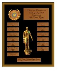 Placa Premio a la Excelencia FECACSO